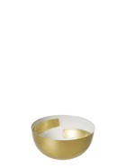 SHAYNNA BLAZE Elsmore White And Gold Bowl 12.5cm
