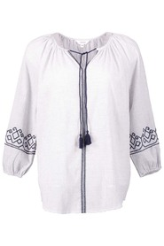 KHOKO COLLECTION Embroidered Peasant Blouse
