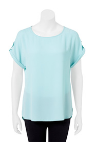KHOKO SMART  Bubble Crepe Cap Sleeve Blouse