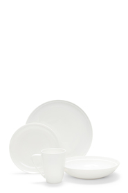 SALT & PEPPER EDGE 16 PIECE WHITE DINNERSET