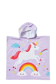 SOREN Velour Kids Beach Poncho Unicorn