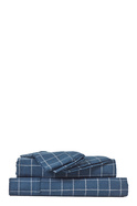 ALLEY PRINT FLANNELETTE SHEET SET KING BED