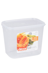 DECOR Tellfresh Plastic Tall Oblong Food Storage Container 2 Litre