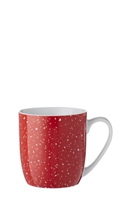SOREN 4PC SPECKLES RED MUG SET