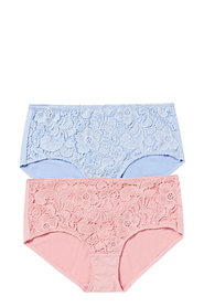 SASH & ROSE 2pk Micro And Lace Full Brief