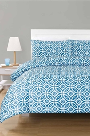 URBANE HOME Byron Quilted Microfibre Quilt Cover Set QB