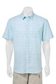BRONSON Short Sleeve Dobby Check Shirt