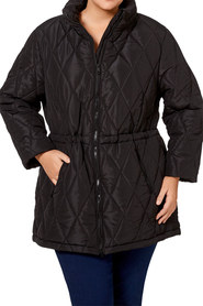 KHOKO PLUS Longline Quilted Puffer Jacket