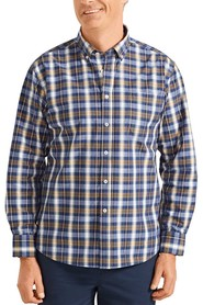 BACK BAY Cotton Check Button Down Collared Shirt