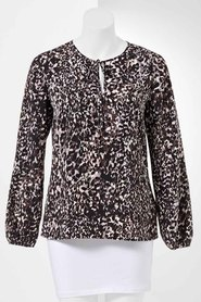 SIMPLY VERA VERA WANG Abstract Print Blouse