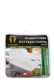 RAMESSES 1000gsm Bamboo Mattress Topper Queen Bed