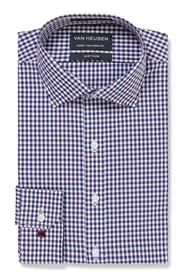 VAN HEUSEN Blue And Mauve Check Shirt