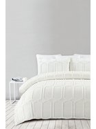 SHAYNNA BLAZE Tannum Cotton Jacquard Quilt Cover Set King Bed