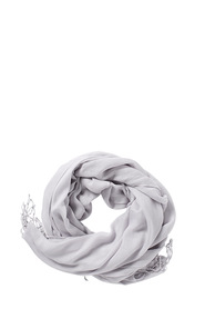 KHOKO SOLID SCARF WITH FRINGE