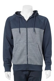 URBAN JEANS CO Yarn Dye Stripe Splice Hoody