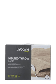 URBANE HOME Urbane Home Heated Throw Latte 160x130cm