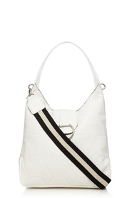 RED HERRING Quilted Metal Fitting Hobo