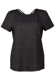 SIMPLY VERA VERA WANG Loose Knit Cross Front Tee