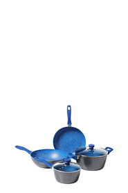 SMITH & NOBEL Pro Stone Blue 4pc Cookset