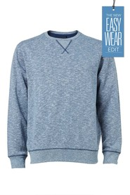 URBAN JEANS CO SLUB TEXTURE CREW NECK JUMPER