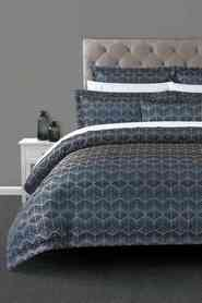 ELYSIAN Villiers Jacquard Quilt Cover Set King Bed