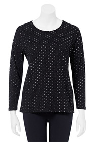 KHOKO COLLECTION Long Sleeve Foil Dot Top