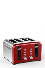 SMITH & NOBEL 4 Slice Toaster Red