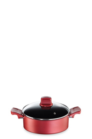 TEFAL CHARACTER RED SHALLOW PAN 24CM
