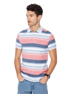 MAINE NEW ENGLAND Tailored Fit Chicago Stripe Polo