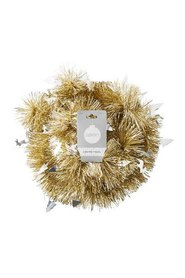 SOREN Winter Wonderland 2m Tinsel with Reindeer and Tree Champagne