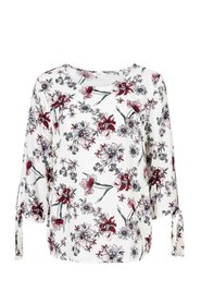 KHOKO COLLECTION WINTER BLOOMS PEASANT TOP
