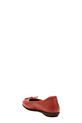 HUSH PUP LTHR BOW FRONT BALLET, RED, 36