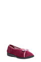 GROSBY VELOUR SLIPPER WITH B, HEATHER, 6