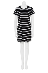 KHOKO COLLECTION Stripe Jersey T -Shirt Dress