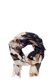 KHOKO POLY SCARF WATER COLOUR FLOWERS