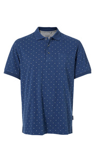 BRONSON ALL OVER SQAURE PRINT JERSEY POLO