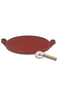 SMITH & NOBEL  38Cm Pizza Stone  Red
