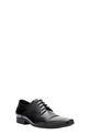 JM STITCH DTAIL LTHR LACE UP C, BLACK, 7