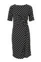 SAVANNAH GATHERED KNIT DRESS, DIAMOND, 8
