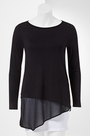 SIMPLY VERA VERA WANG Knit Woven Top