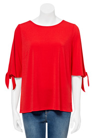 KHOKO SMART Knit Crepe Tie Sleeve Top