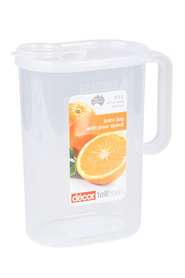 DECOR Tellfresh Plastic Graduated Jug 2 Litre