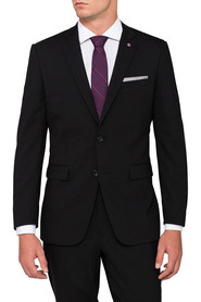PIERRE CARDIN Super 100'S Wool 2 Button Single Breasted Suit Jacket