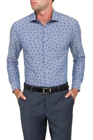 PIERRE CARDIN Euro Fit Print Shirt