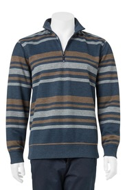 BRONSON Peached French Rib Fleece Top