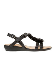 HUSH PUPPIES Daya Leather Trim Detail Sandal