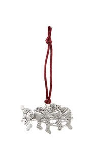 SEAGULL Birds and Stocking Pewter Ornament