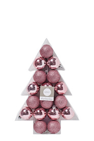 SOREN Winter Wonderland 17 Pack Baubles in Tree Shaped Box