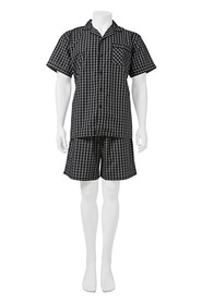 BRONSON Woven Short Sleeve Top And Short Pj Set