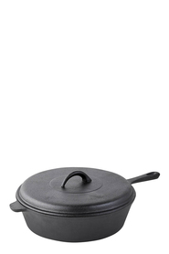 SMITH & NOBEL Raw Cast Iron Frypan 29.5cm
